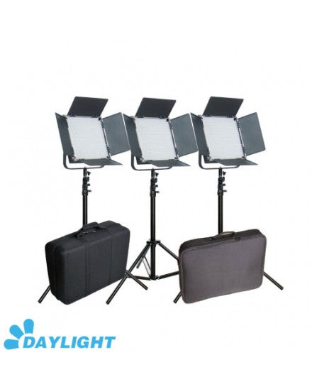 CAME-TV High CRI 3 X 1024 +Bag 5600K LED Video Panel Broadcast
