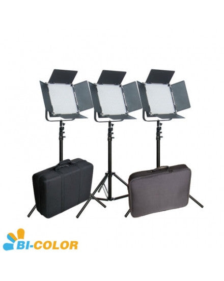CAME-TV High CRI Bi-Color 3 X 1024 LED Video Studio Lighting