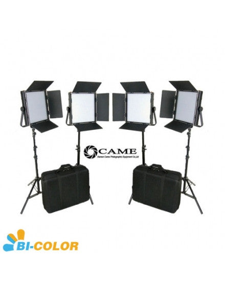 CAME-TV High CRI Bi-Color 4 X 1024 LED Video Lights TV Lighting