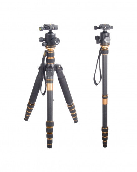 CAME-TV Q66C Carbon Fiber Tripod Monopod Macro Photography