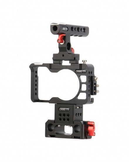 CAME-TV Rig For Sony A6300 Camera With Handle Cage Baseplate