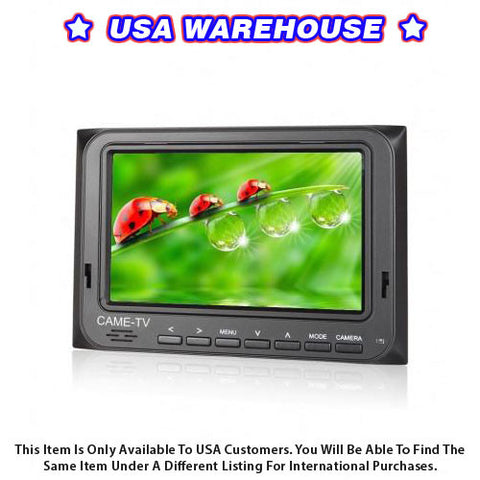 "CAME-TV 5"" 800*480 HDMI AV Field Monitor W/ Peaking Focus Assist - USA Warehouse"