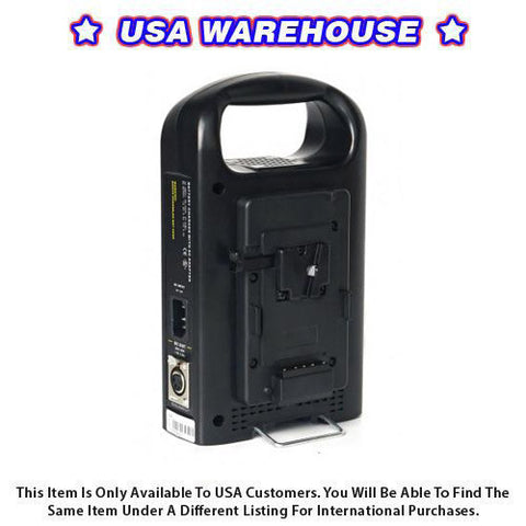 CAME-TV Battery Charger And Power Supply 2 Channel For Camera - USA Warehouse