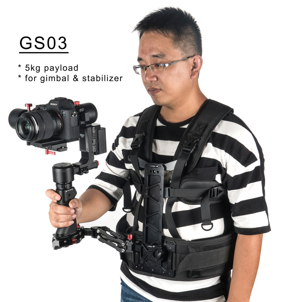 CAME-TV Video Stabilizer Gimbal Support with a 11lbs Payload Arm