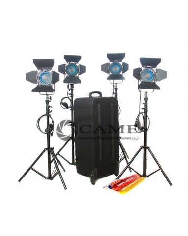 Dimmer + 4X300W Fresnel Tungsten Video Continuous Spot Lighting
