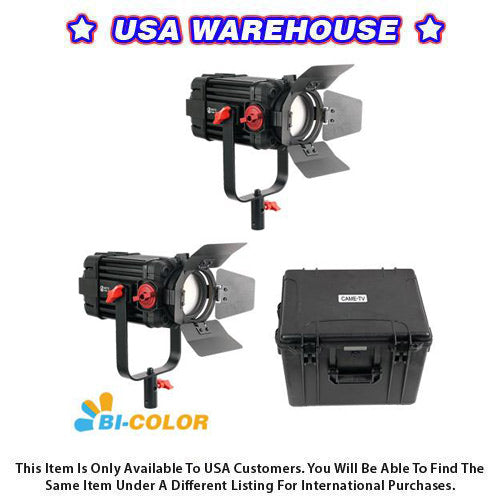 2 Pcs CAME-TV Boltzen 100w Fresnel Focusable LED Bi-Color Kit - USA Warehouse