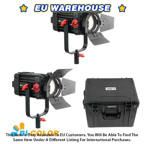 2 Pcs CAME-TV Boltzen 100w Fresnel Focusable LED Bi-Color Kit - European Warehouse