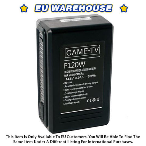 CAME-TV Compact V-Mount Li-Ion Battery 120Wh - European Warehouse