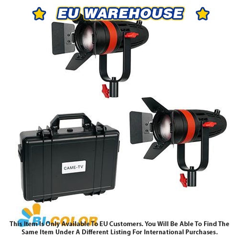 2 Pcs CAME-TV Boltzen 55w Fresnel Focusable LED Bi-Color Kit - European Warehouse