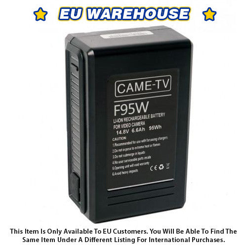 CAME-TV Compact V-Mount Li-Ion Battery 95Wh - European Warehouse