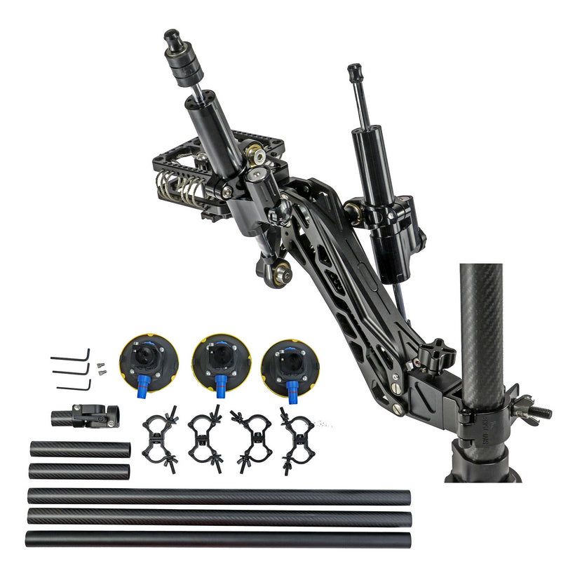 CAME-TV 2-22 Lbs Load Pro Camera Video Hydraulic Stabilizer Rod Mount With Suction Cup Mount GS11-SUCTION