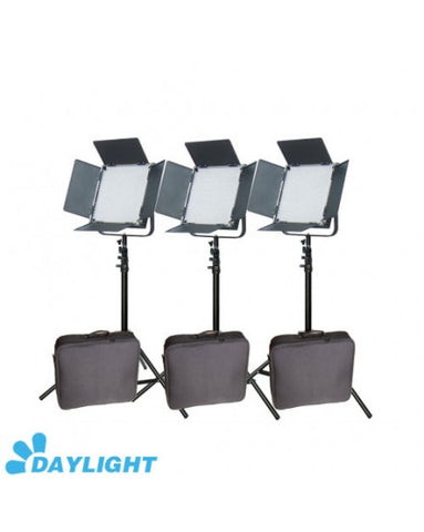 High CRI + Free Bag 3 X 900 LED 5600K Video Studio Film Light