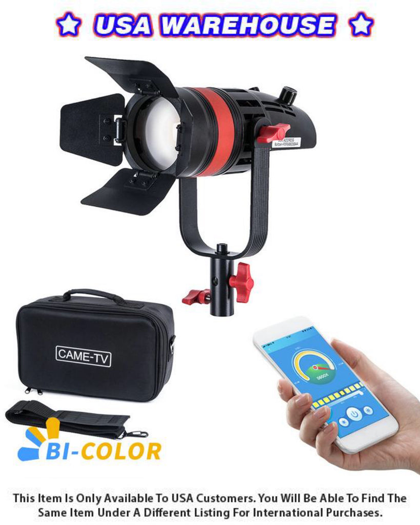 1 Pc CAME-TV Q-55S Boltzen 55w High Output Fresnel Focusable LED Bi-Color With Bag - USA Warehouse
