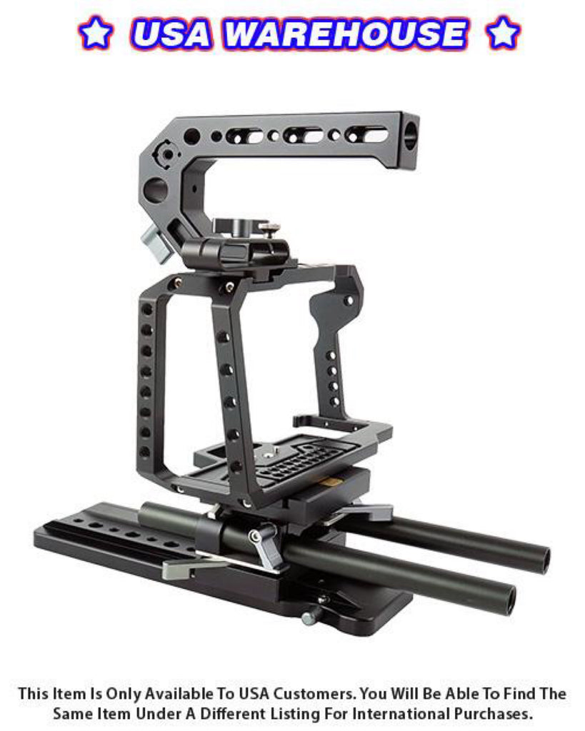 CAME-TV Cage Kit Suitable For BMPCC 4K and 6K Cameras (Kit 4) - USA Warehouse