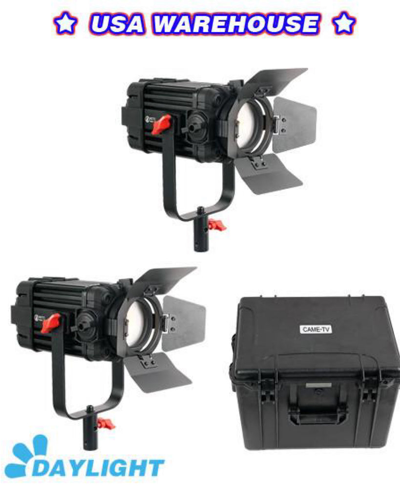 2 Pcs CAME-TV Boltzen 60w Fresnel Fanless Focusable LED Daylight B60-2KIT - USA Warehouse