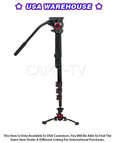 CAME-TV Carbon Fiber Monopod With Pivoting and Lockable Foot Stand 705BS - USA Warehouse