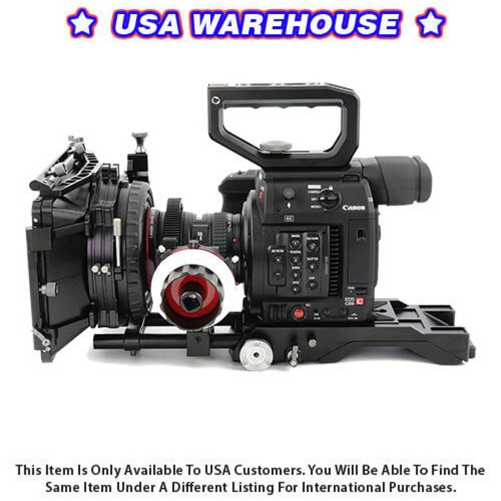 CAME-TV Shoulder Rig For Canon EOS C200 With Mattebox Follow Focus PK03 - USA Warehouse