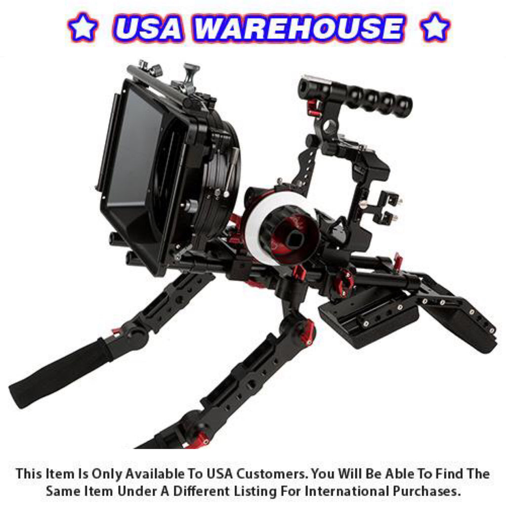 CAME-TV Sony A7RIII Camera Rig Mattebox Shoulder Support Kit - USA Warehouse