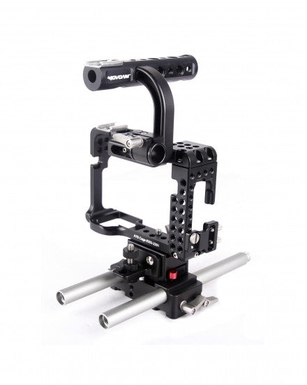 Movcam DSLR A7S Baseplate Cage With Top Handle For Sony A7S