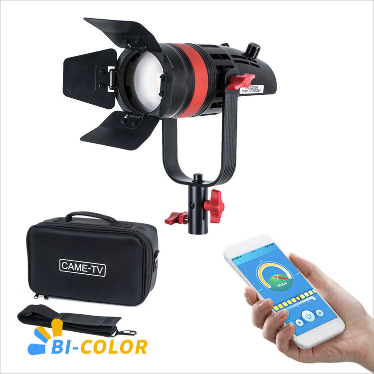 1 Pc CAME-TV Q-55S Boltzen 55w High Output Fresnel Focusable LED Bi-Color With Bag