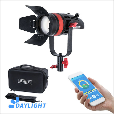 1 Pc CAME-TV Q-55W Boltzen 55w High Output Fresnel Focusable LED Daylight With Bag