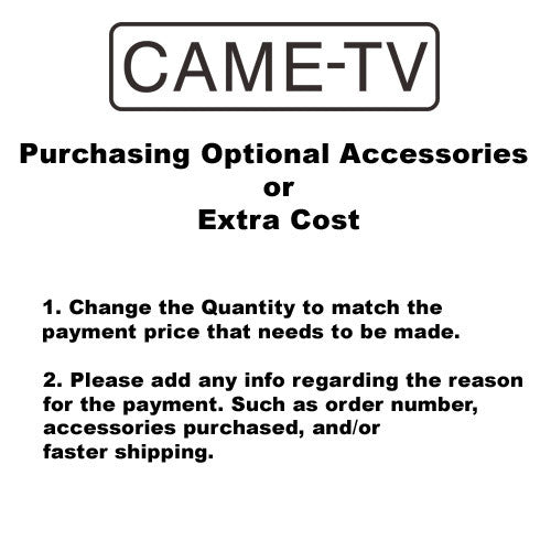 Purchase Optional Accessories Or Extra Cost