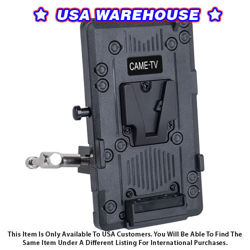CAME-TV V-Mount Plate With Clamp - USA Warehouse