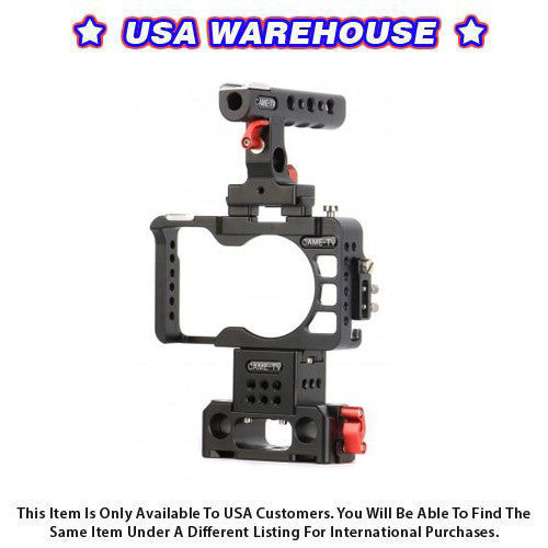 CAME-TV Rig For Sony A6300 / A6500 Camera With Handle Cage Baseplate - USA Warehouse