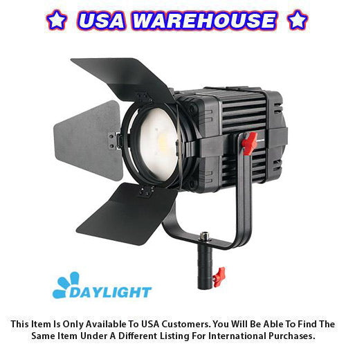 1 Pc CAME-TV Boltzen 100w Fresnel Fanless Focusable LED Daylight - USA Warehouse