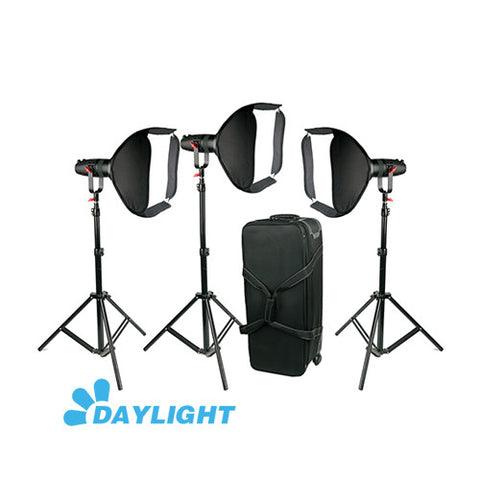3 Pcs CAME-TV Boltzen 30w Fresnel Fanless Focusable LED Daylight Package