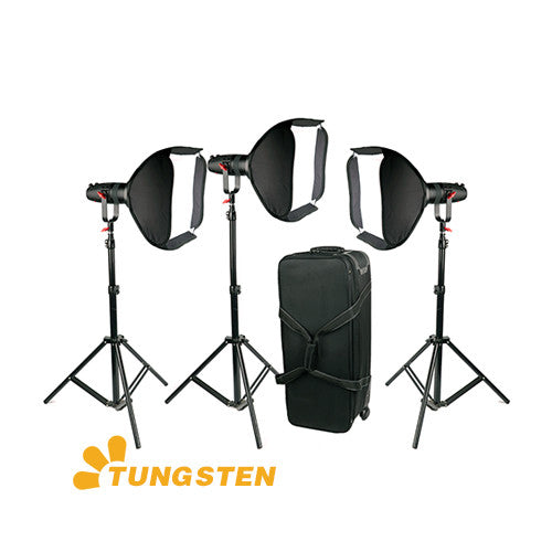 3 Pcs CAME-TV Boltzen 30w Fresnel Fanless Focusable LED Tungsten Package
