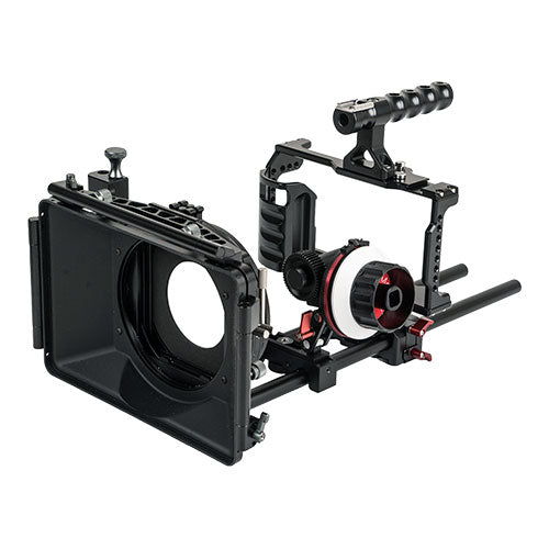 CAME-TV BMPCC 4K / 6K Rig Mattebox A/B Follow Focus 15mm Rod For BlackMagic Pocket Cinema Camera