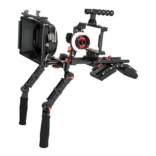 CAME-TV BMPCC 4K / 6K Shoulder Rig Mattebox A/B Follow Focus 15mm Rod For BlackMagic Pocket Cinema Camera