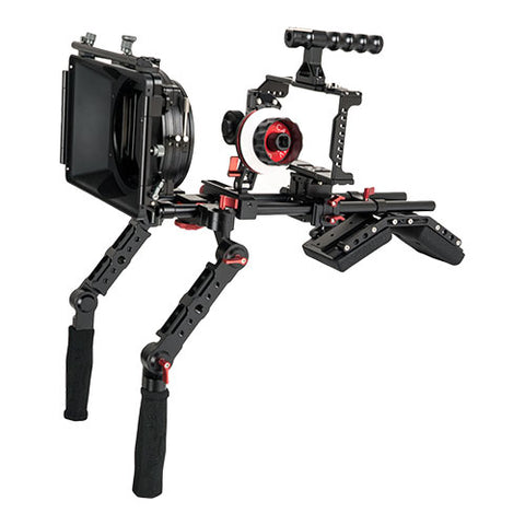 CAME-TV BMPCC 4K Shoulder Rig Mattebox A/B Follow Focus 15mm Rod For BlackMagic Pocket Cinema Camera