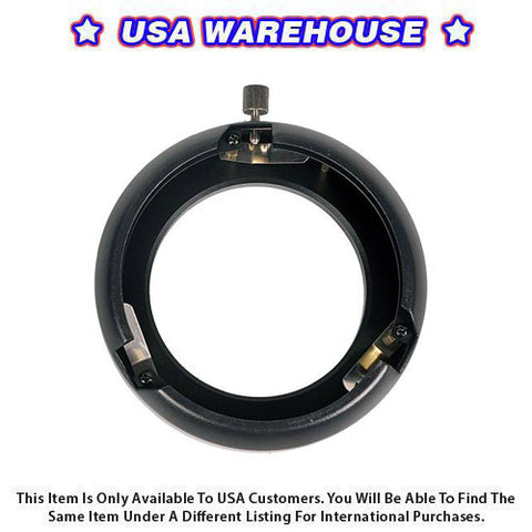 Bowens Mount Ring Adapter 60 and 100 Watt (Medium) - USA Warehouse