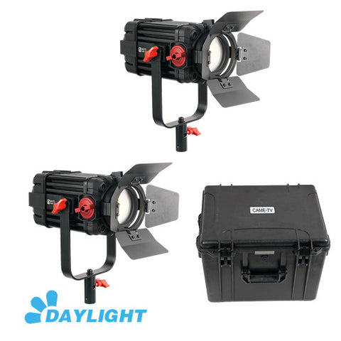 2 Pcs CAME-TV Boltzen 100w Fresnel Focusable LED Daylight Kit