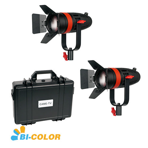 2 Pcs CAME-TV Boltzen 55w Fresnel Focusable LED Bi-Color Kit