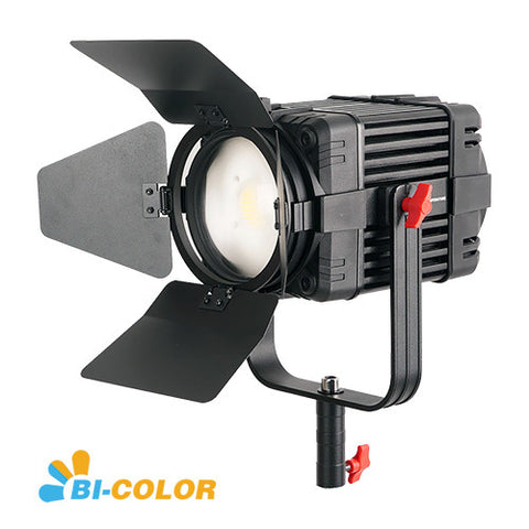 1 Pc CAME-TV Boltzen 100w Fresnel Fanless Focusable LED Bi-Color B-100S
