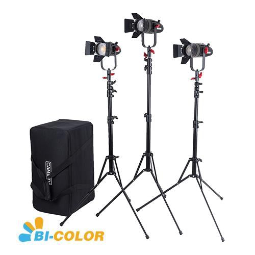 CAME-TV Boltzen 30w Travel Kits Fresnel Fanless Focusable LED Bi-Color 5800 Lux@1m