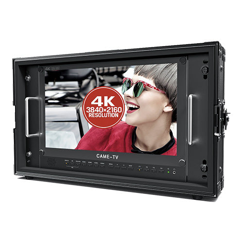 "CAME-TV 15.6"" 12G-SDI 4K Broadcast Director Monitor with 12G-SDI, HDMI, Tally inputs"