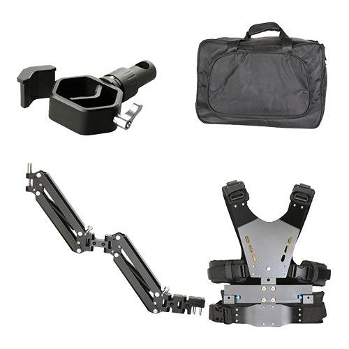 CAME-TV 2.5-5kg Load Pro Camera Video Stabilizer Vest With Dual Arm + Adjustable Clamp