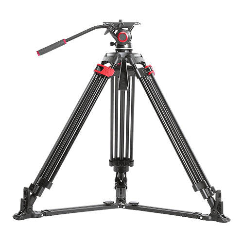 CAME-TV Aluminum Video Tripod With Fluid Bowl Head And Spreader Max Load 22 Lbs 605A