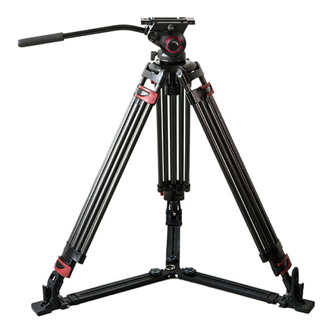CAME-TV Carbon Fiber Video Tripod With Fluid Bowl Head And Spreader Max Load 33 Lbs 609B