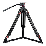CAME-TV Aluminum Video Tripod With Fluid Bowl Head Max Load 33 Lbs 609A