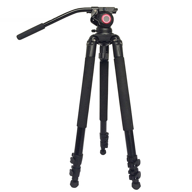 CAME-TV Aluminum Video Tripod With Fluid Bowl Head Max Load 55 Lbs 701A