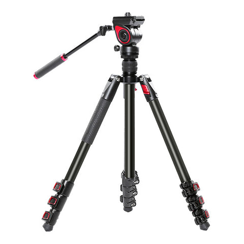 CAME-TV Aluminum Video Tripod With Fluid Head Max Load 11 Lbs 801A
