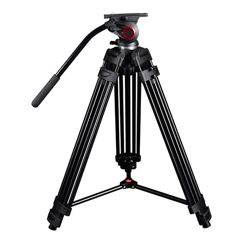 CAME-TV Aluminum Video Tripod With Fluid Head Max Load 22 Lbs 601A