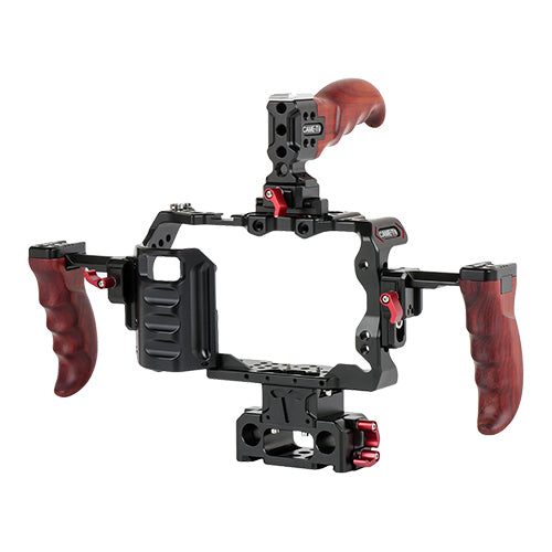 CAME-TV Rig For Blackmagic Pocket Cinema Camera 4K / 6K With Wooden Handles