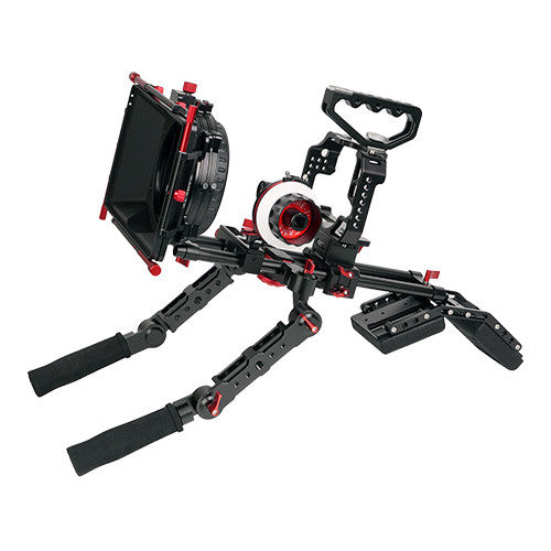 CAME-TV Protective Cage For GH4 Camera Rig W/ Hand Grip Support