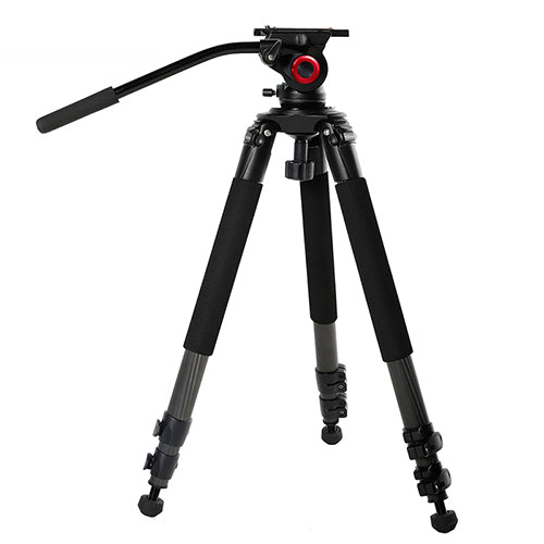 CAME-TV Carbon Fiber Tripod With Fluid Bowl Head Max Load 55 Lbs 701B